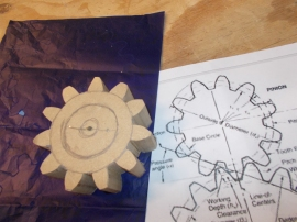 Resulting cut-out cog from Geometrical Drawing